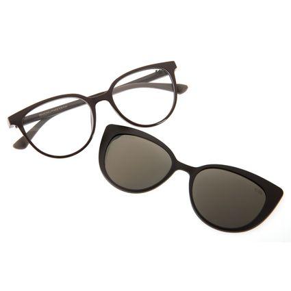 Armação Para Óculos de Grau Chilli Beans Feminino Multi 2 em 1 Cinza Polarizado LV.MU.0181-2104