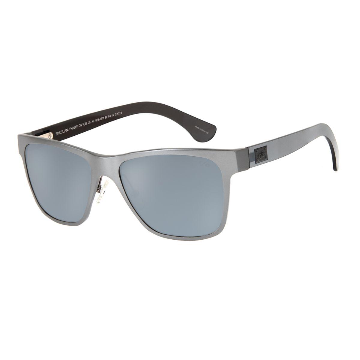 1de5e4eea Óculos de Sol Chilli Beans Masculino Esportivo Polarizado Cinza 0220 -  OC.AL.0220.0031 M