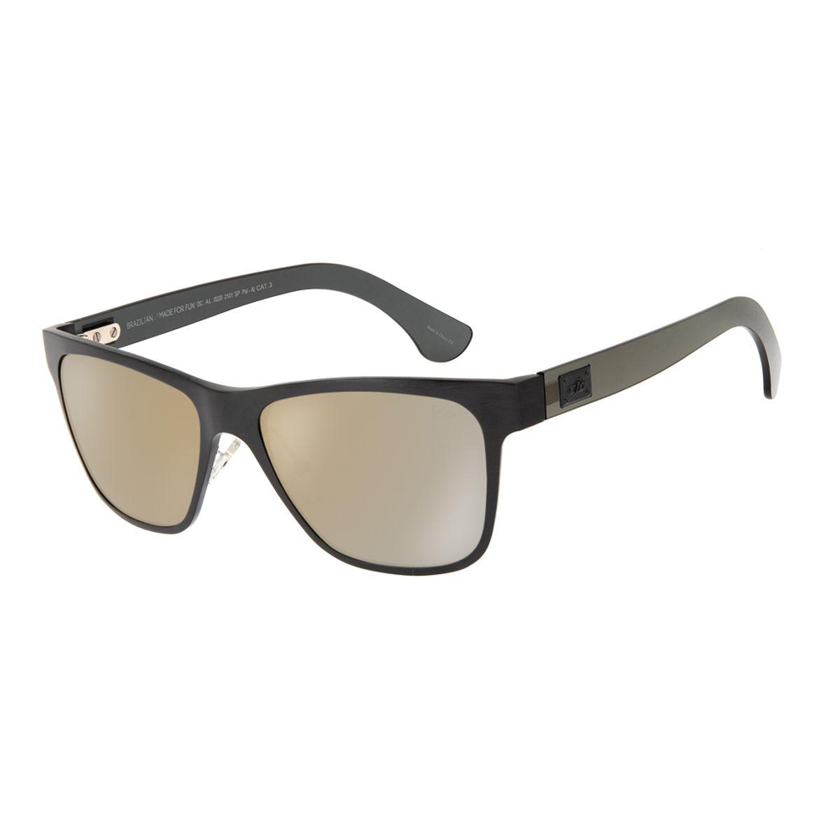 8abcbb571 Óculos de Sol Chilli Beans Masculino Esportivo Polarizado Preto 0220 ...