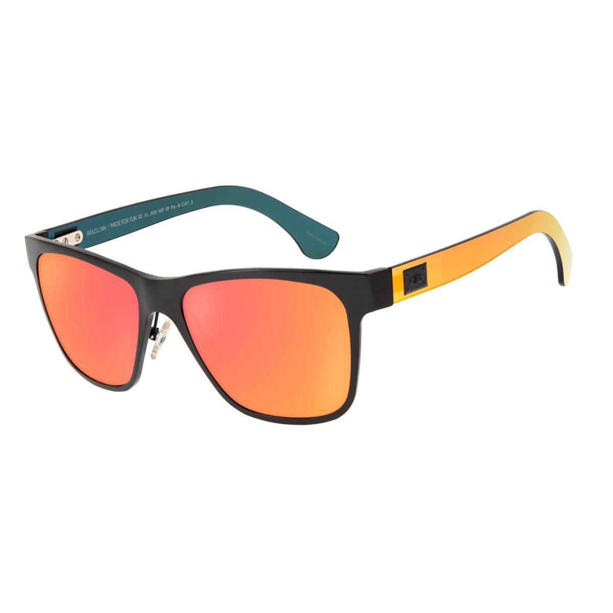 598fa1db59595 Óculos de Sol Chilli Beans Masculino Esportivo Vermelho Espelhado ...