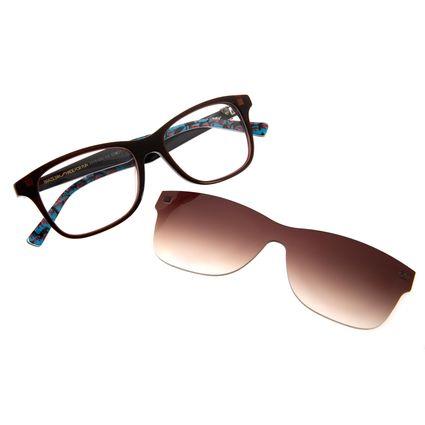 be8deded25534 Armação para Óculos de Grau Chilli Beans Masculino Multi Arte de Rua Crânio  Marrom 0193