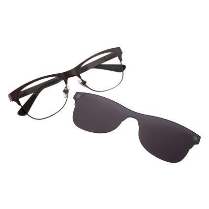 8d4a1f9ca5507 Armação para Óculos de Grau Chilli Beans Multi Masculino Arte de Rua Crânio  Marrom 0195