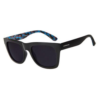 87fc8064cd8f8 Óculos de Sol Chilli Beans Masculino Arte de Rua Cranio Índios Preto 2735