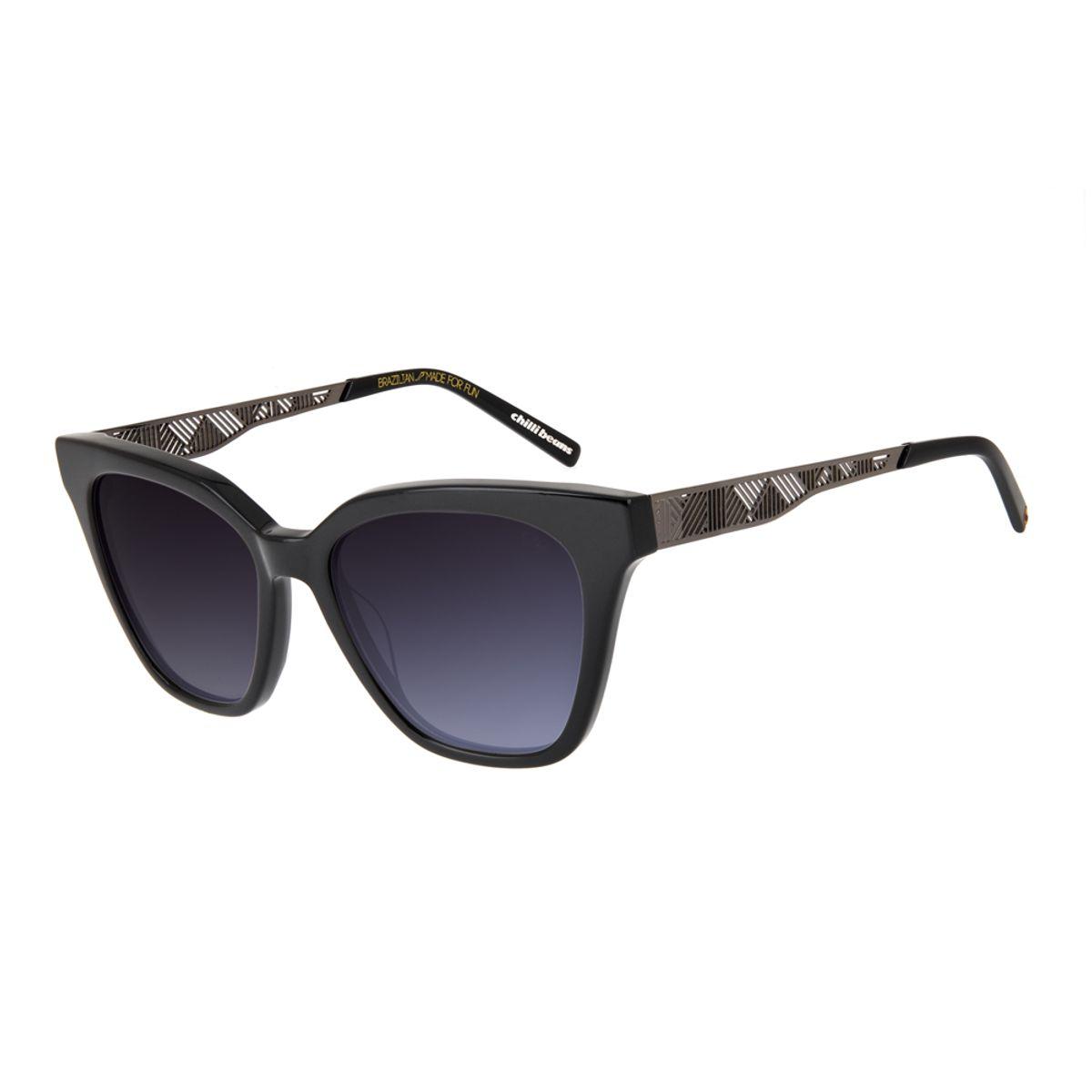 462268172fed9 Óculos de Sol Chilli Beans Feminino Arte de Rua Cranio Indígena ...