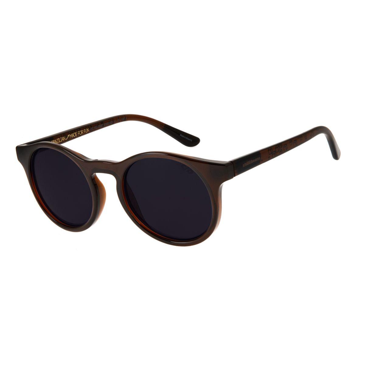 96ec70d6a6d75 Óculos de Sol Chilli Beans Infantil Arte de Rua Cranio Marrom 0597 ...