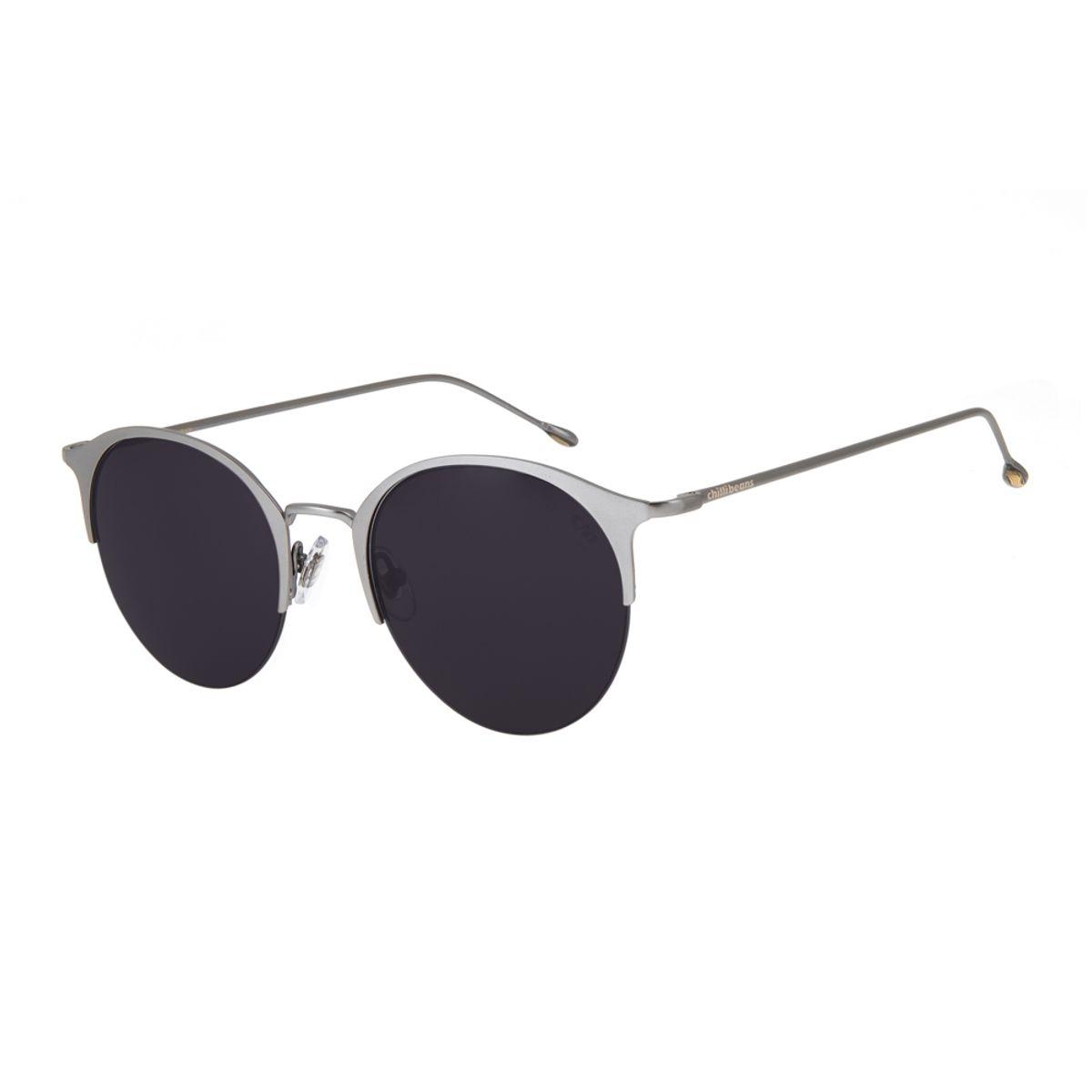 4d9b802301d19 Óculos de Sol Chilli Beans Feminino Jazz Redondo Arte de Rua Cranio ...