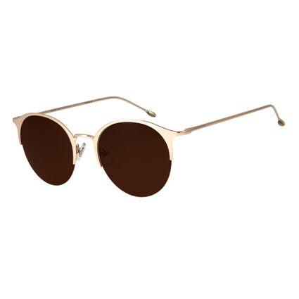 17c8e8a0c6673 Óculos de Sol Chilli Beans Feminino Jazz Redondo Arte de Rua Cranio Dourado  2626
