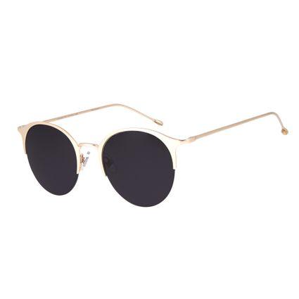 db146464557bd Óculos de Sol Chilli Beans Feminino Jazz Redondo Arte de Rua Cranio Degradê  Marrom 2626
