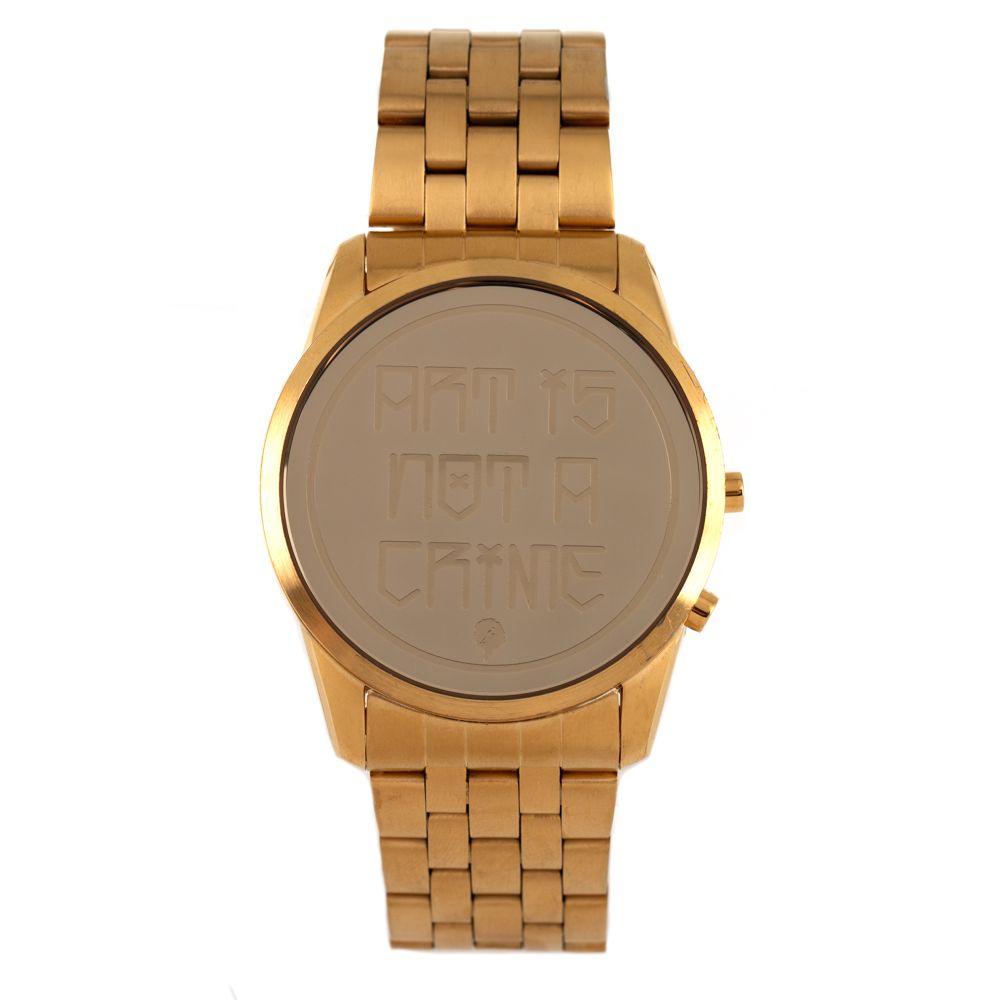 251daaa32 Relógio Chilli Beans Masculino Digital Arte De Rua Cranio Dourado 0802 -  RE.MT.0802.2121 M