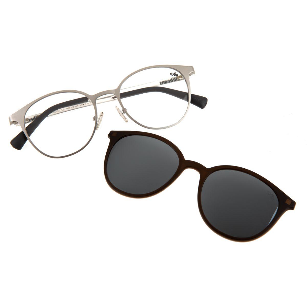 0a1da855325ca Armação para Óculos de Grau Chilli Beans Feminino Multi 2 em 1 Prata ...