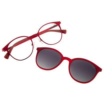acc0310b15a82 Armação para Óculos de Grau Chilli Beans Feminino Multi 2 em 1 Vermelho  Polarizado 0152