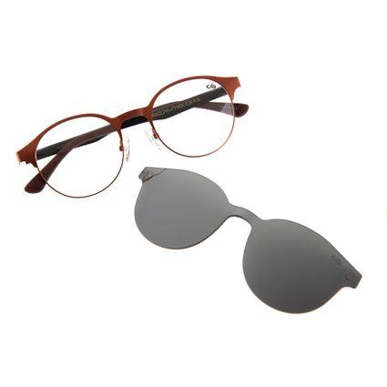 armacao-para-oculos-de-grau-chilli-beans-redondo-feminino-multi-2-em-1-marrom-0154-3247