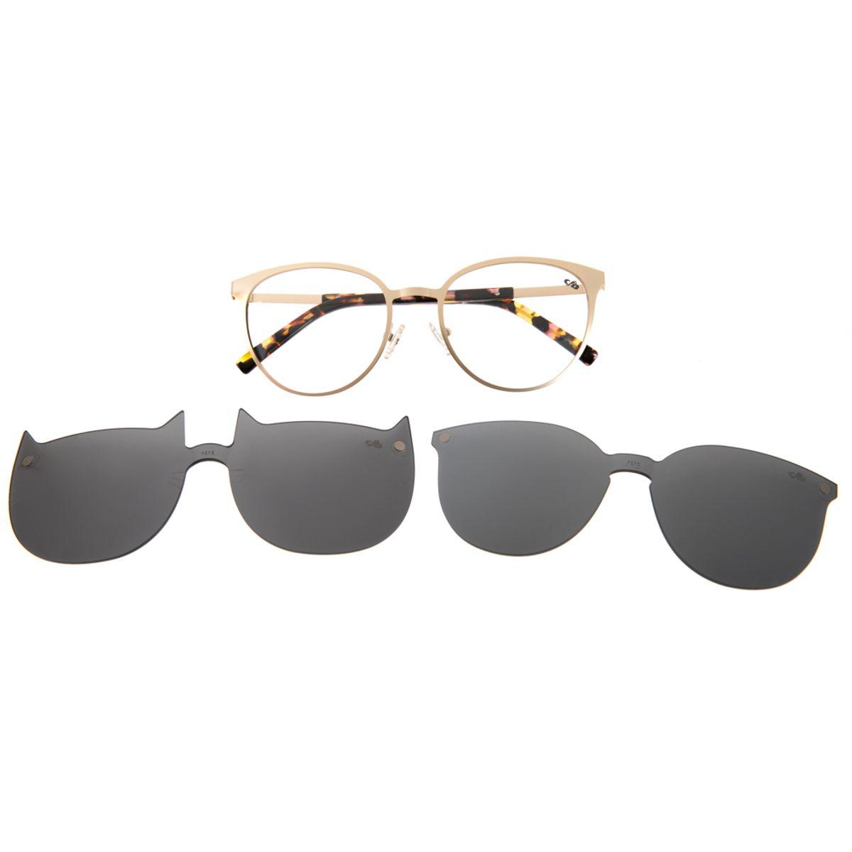 277619cd2a9c8 Armação para Óculos de Grau Chilli Beans Multi 2 em 1 Gatinho Marrom ...