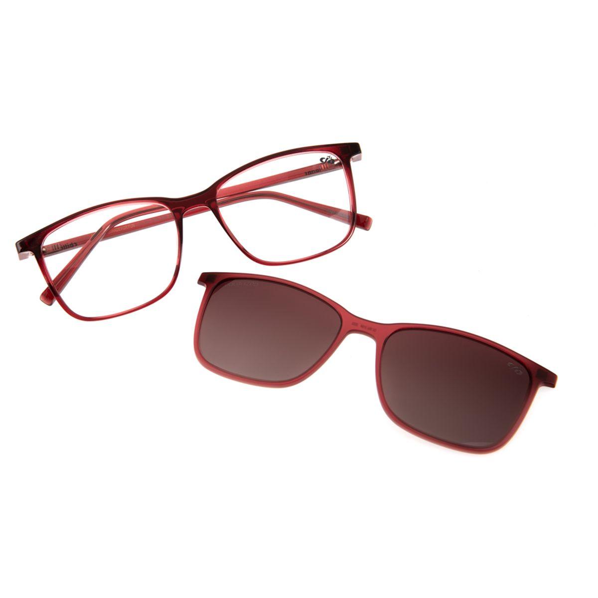 a2364b443107a Armação para Óculos de Grau Chilli Beans Feminino Multi 2 em 1 Vinho ...