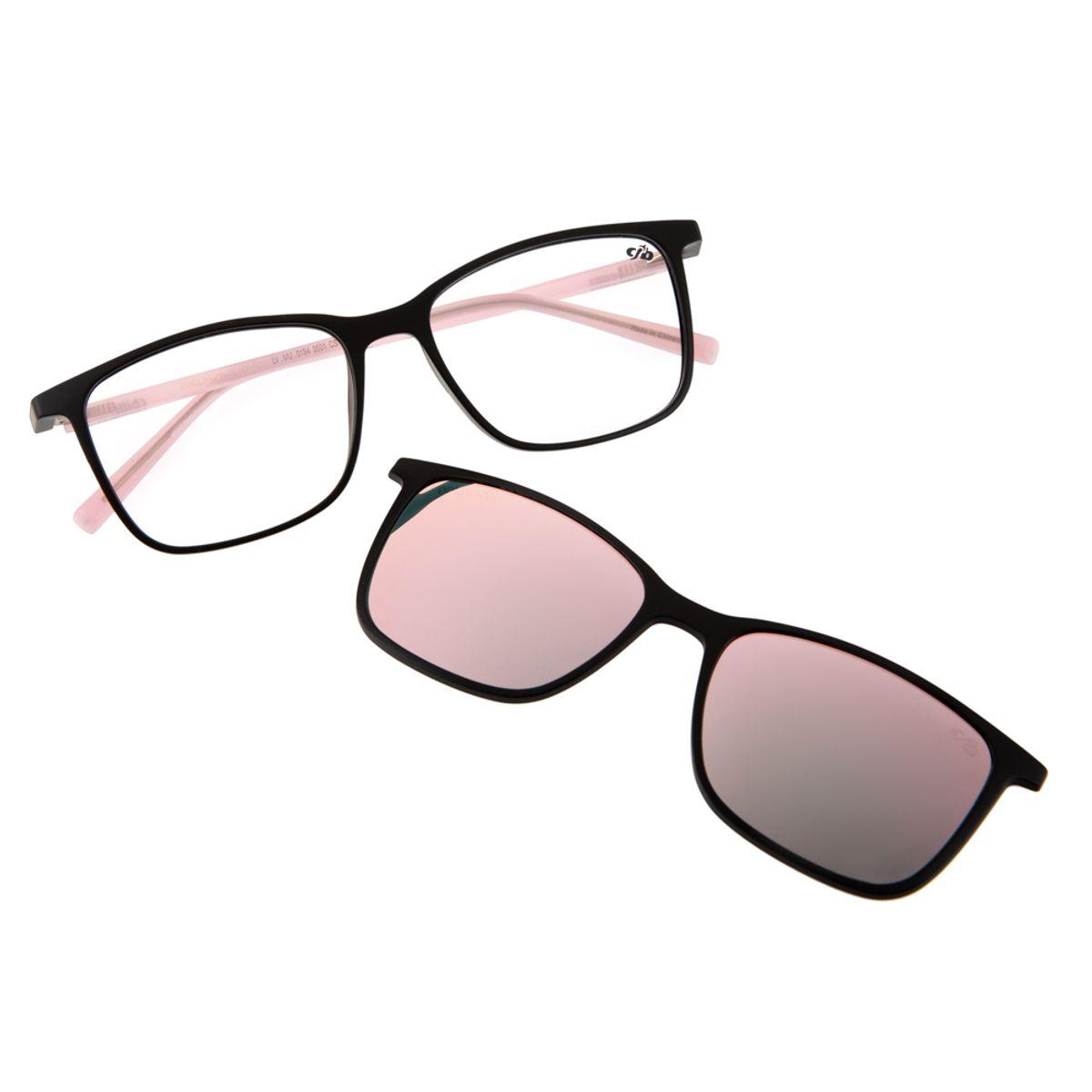 8987d5a362ff5 Armação para Óculos de Grau Chilli Beans Feminino Multi 2 em 1 Preto ...