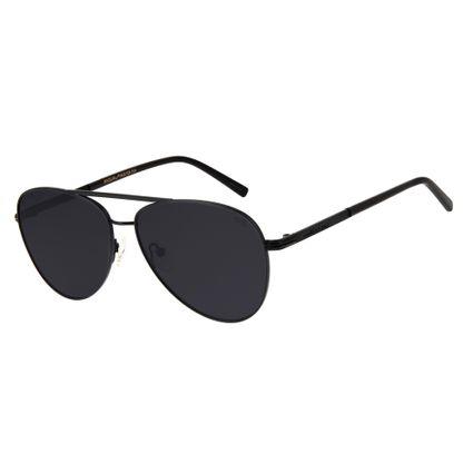 62a3bc3d5cf04 Óculos de Sol Chilli Beans Unissex Aviador Preto Polarizado 2614