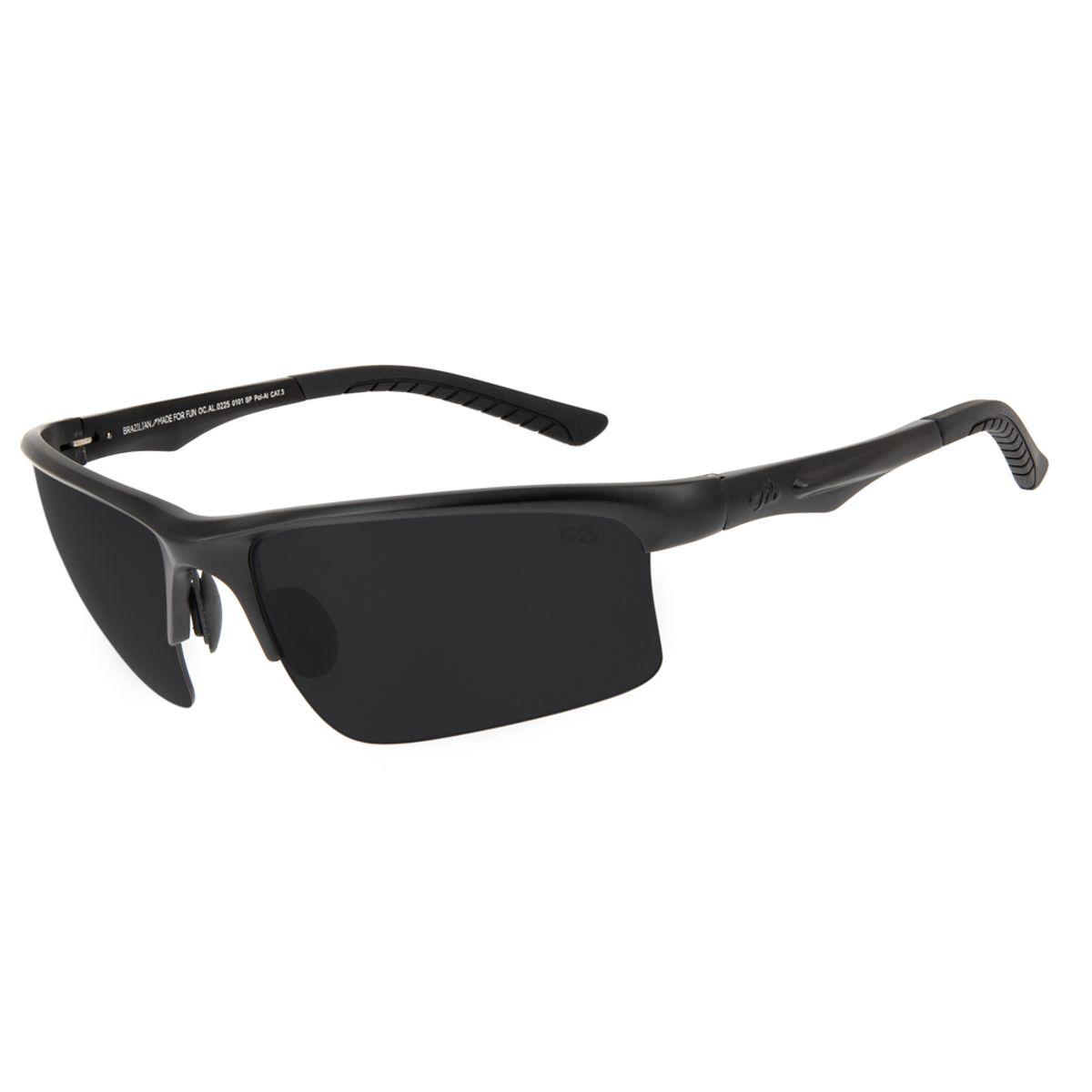75c00b581 Óculos de Sol Chilli Beans Esportivo Masculino Polarizado Preto 0225 -  OC.AL.0225.0101 M. REF: OC.AL.0225.0101. OC.
