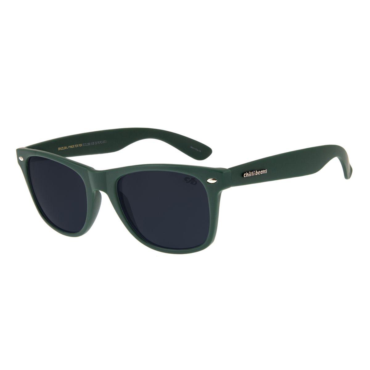 4343505a001c5 Óculos de Sol Chilli Beans Unissex Bossa Nova Verde 2583 - Chilli Beans