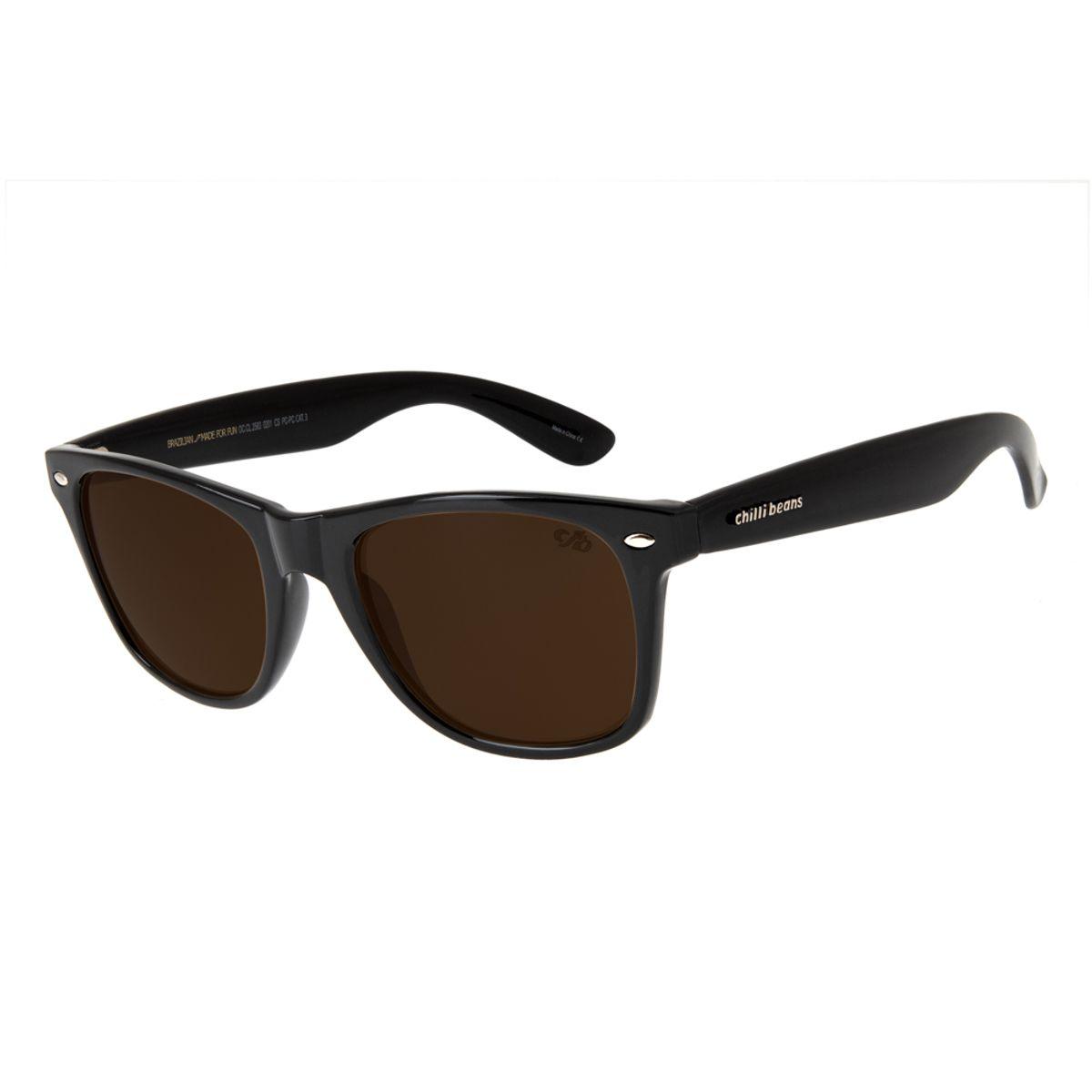 3725d3a0a Óculos de Sol Chilli Beans Unissex Bossa Nova Preto 2583 - Chilli Beans