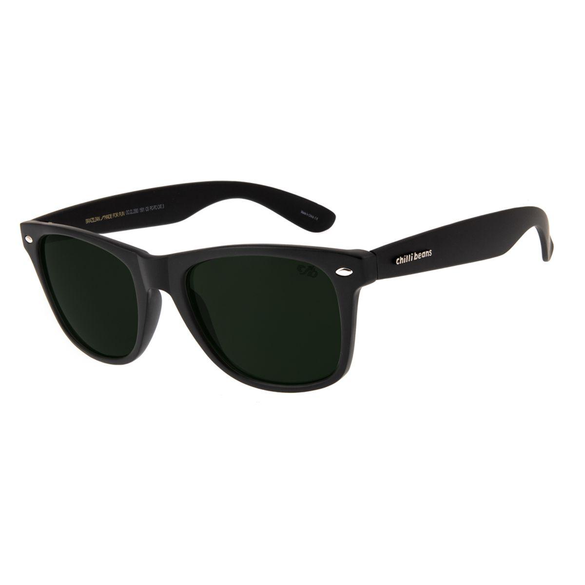 d33bd2c2193aa Óculos de Sol Chilli Beans Unissex Bossa Nova Preto Fosco 2583 ...