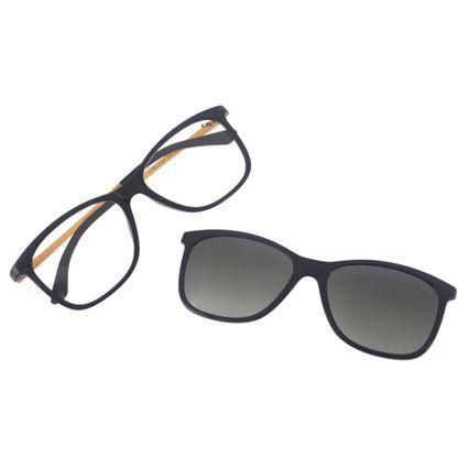 armacao para oculos de grau chilli beans multi clip on feminino preto marca chilli beans 0165 0101