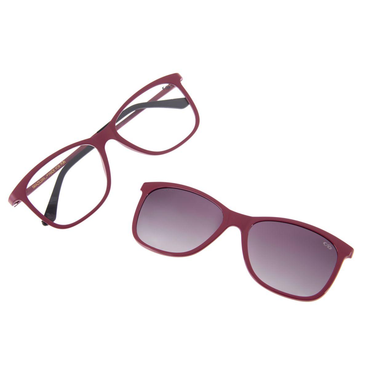 8c20aa3f8 Armação para Óculos de Grau Chilli Beans Multi Clip On Feminino ...