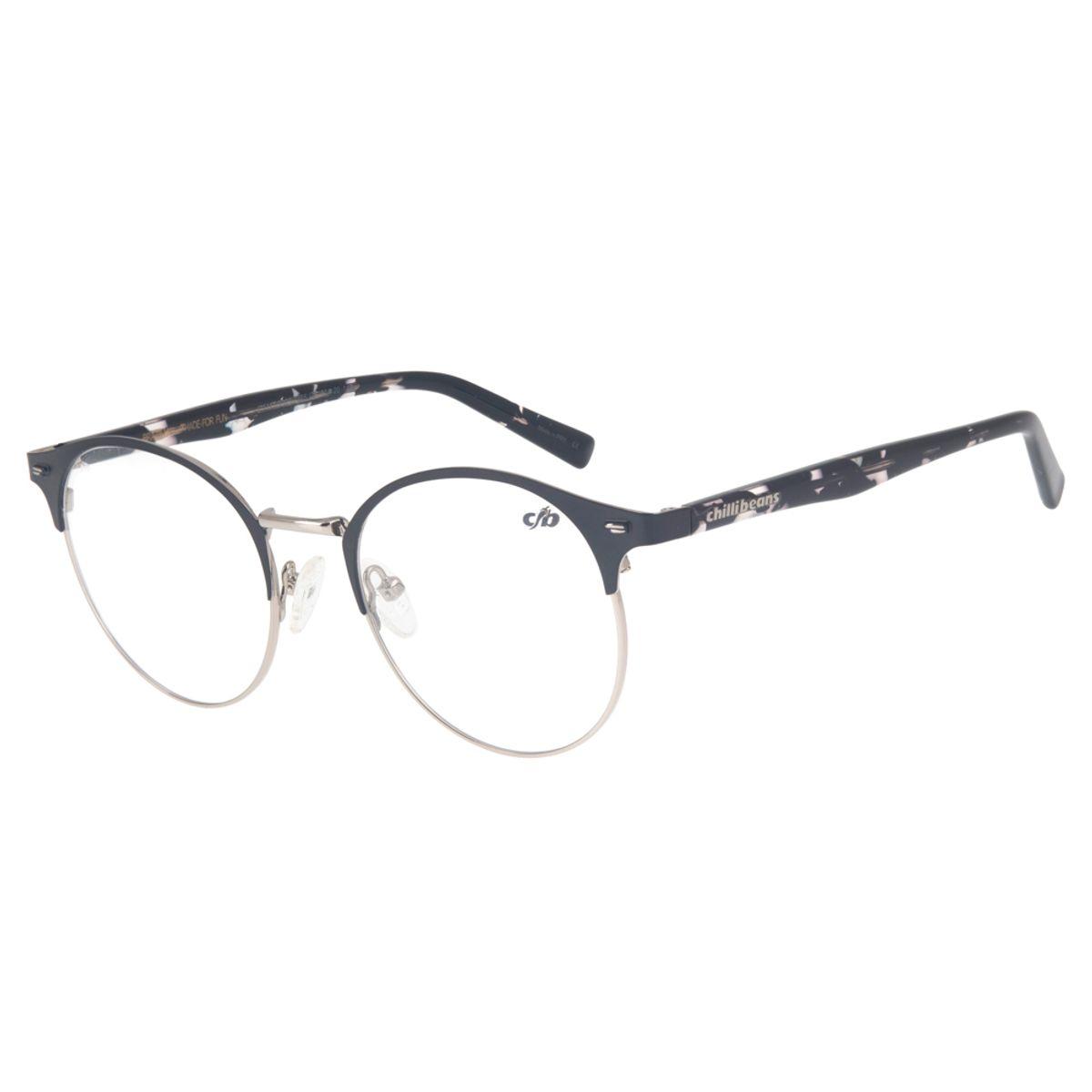 2f631c8870ad2 Armação para Óculos de Grau Redondo Chilli Beans Unissex Metal ...