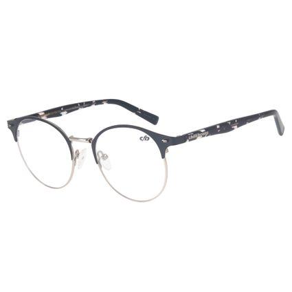 armacao para oculos de grau chilli beans redondo unissex metal tartaruga cinza marca chilli beans 0309 2465