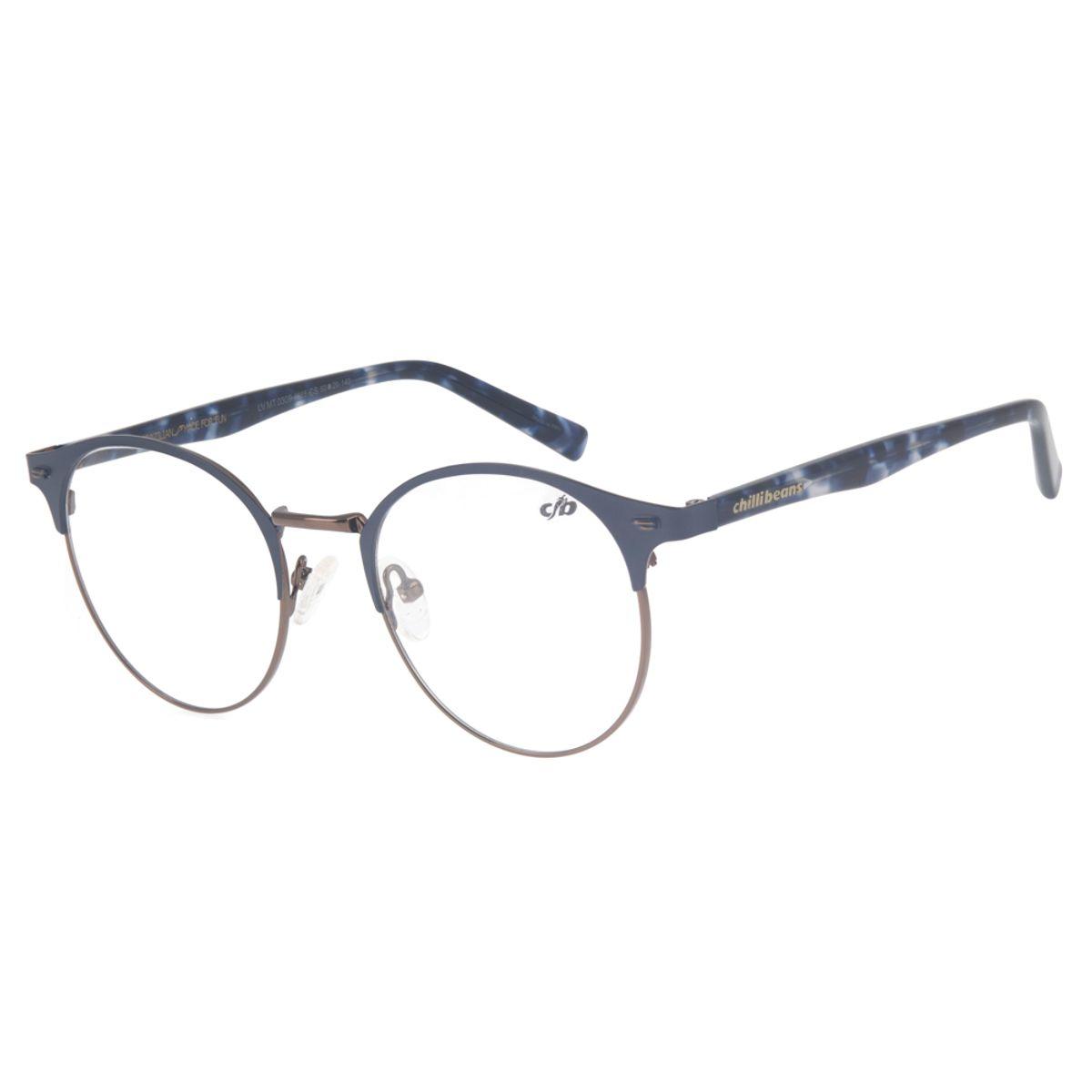 03626ac8f Armação para Óculos de Grau Redondo Chilli Beans Unissex Metal ...