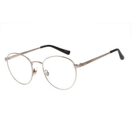 armacao para oculos de grau chilli beans redondo unissex metal etnico grafite marca chilli beans 0318 2424