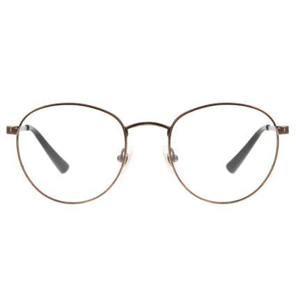 armacao para oculos de grau chilli beans redondo unissex metal etnico cobre marca chilli beans 0318 3939