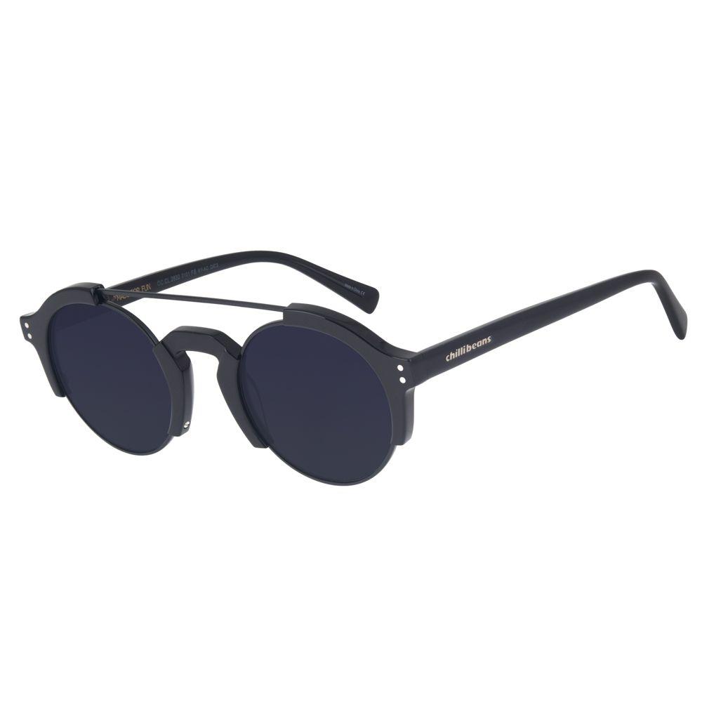 Óculos de Sol Chilli Beans Unissex Steampunk Preto 2630 0101
