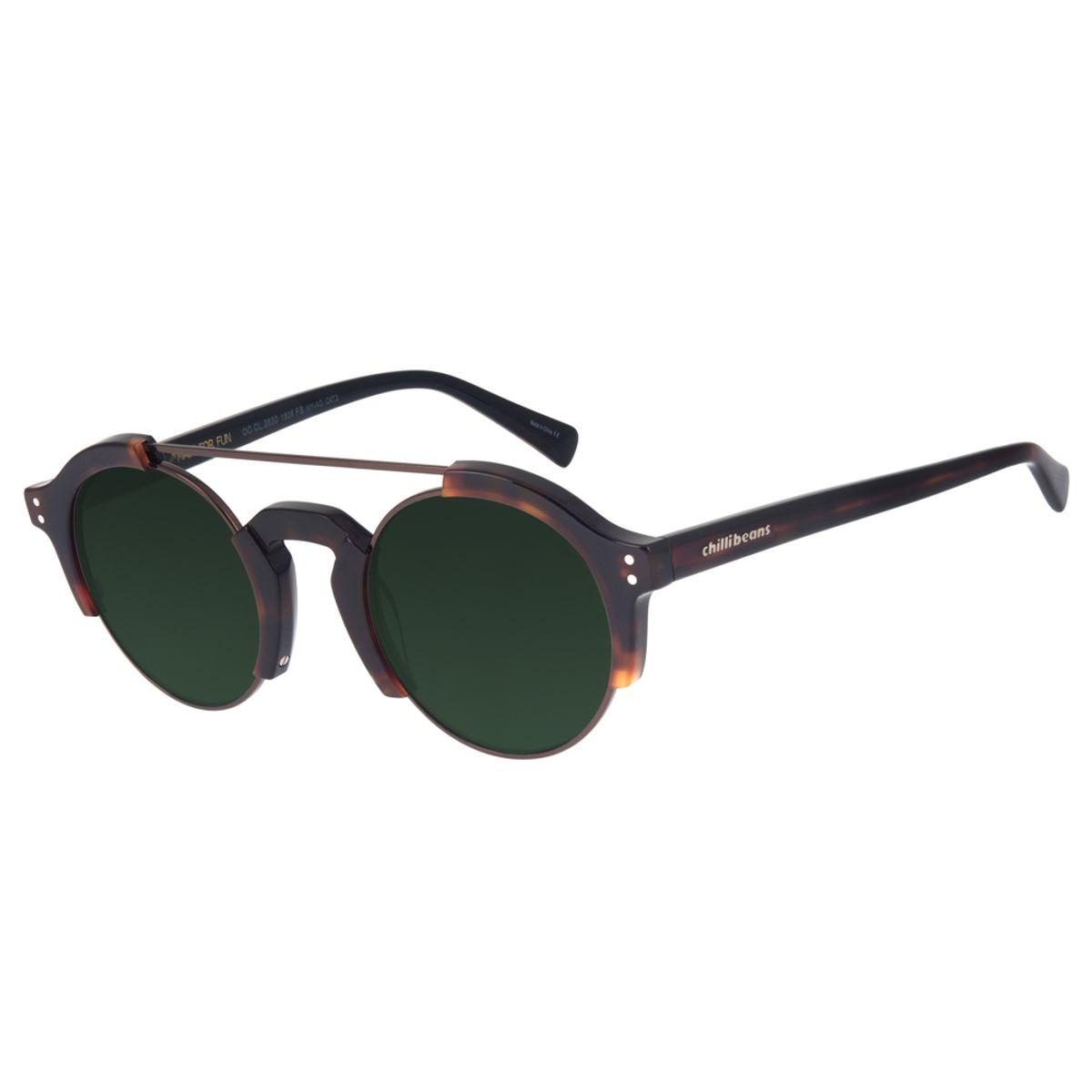 688aaf856 Óculos de Sol Chilli Beans Unissex Steampunk Tartaruga 2630 - Chilli ...