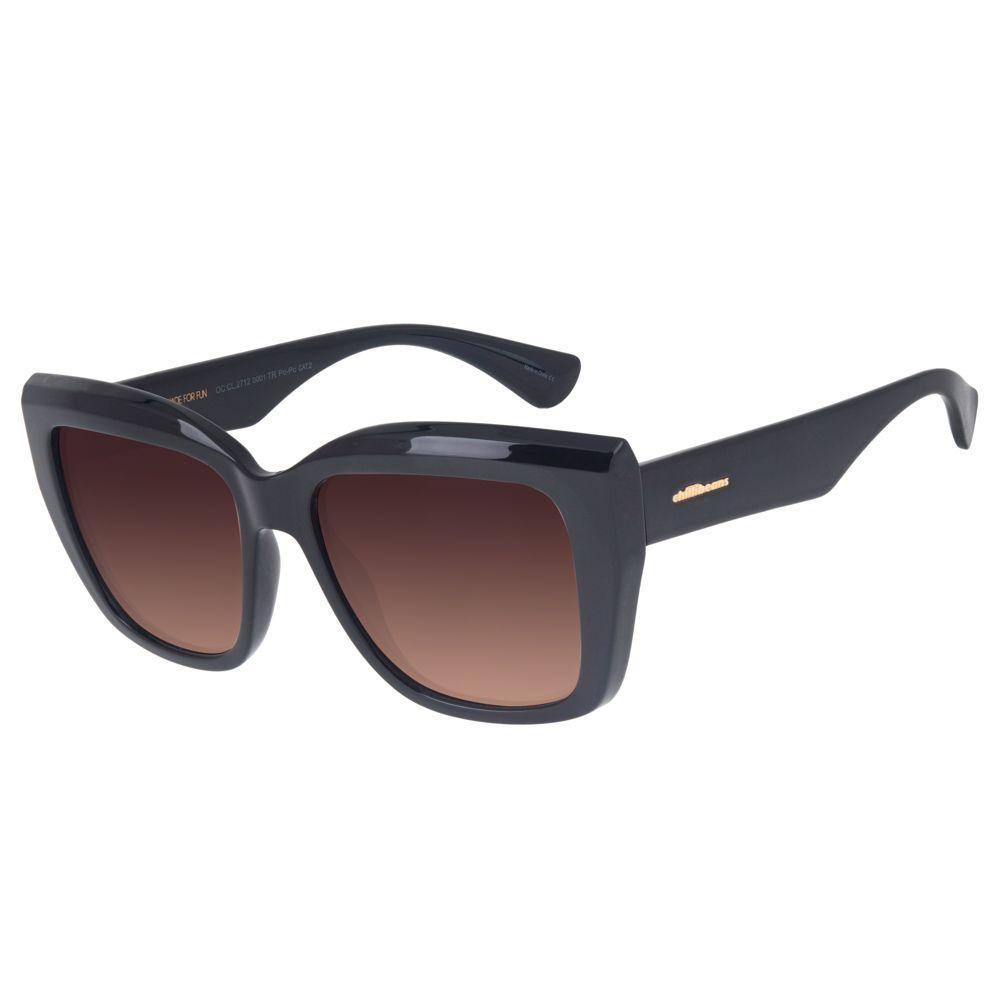 Óculos de Sol Chilli Beans Feminino Máxi Quadrado Preto 2712