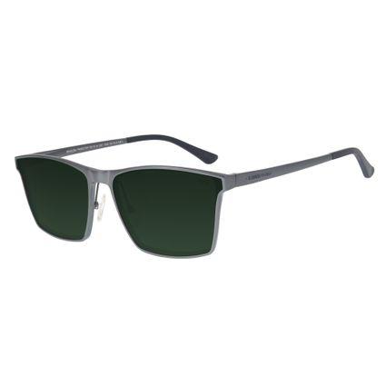 eb5758b8b6136 Óculos de Sol Chilli Beans Masculino Alumínio Polarizado Cinza 0227