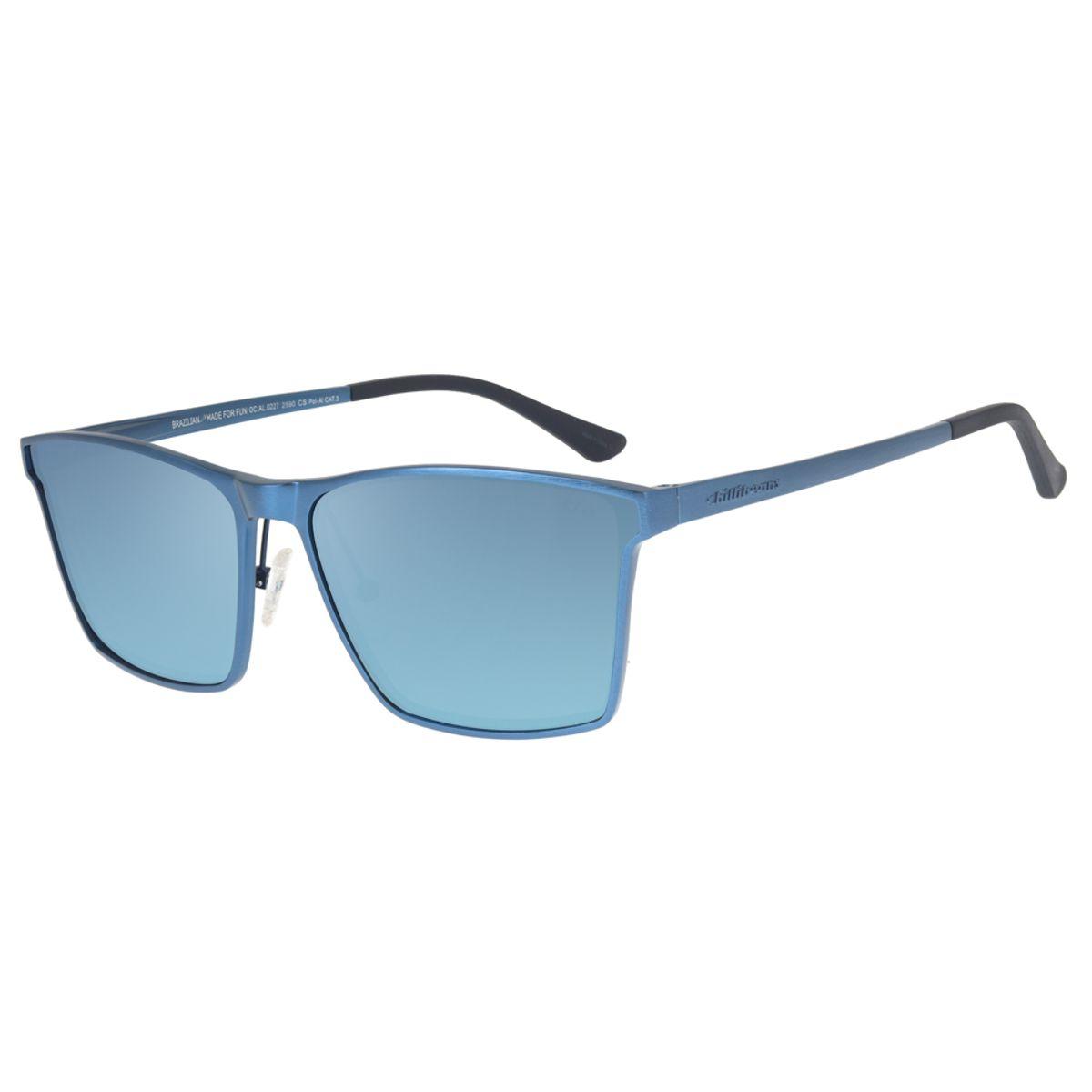 73d186a9f14e8 Óculos de Sol Chilli Beans Masculino Alumínio Polarizado Azul 0227 ...