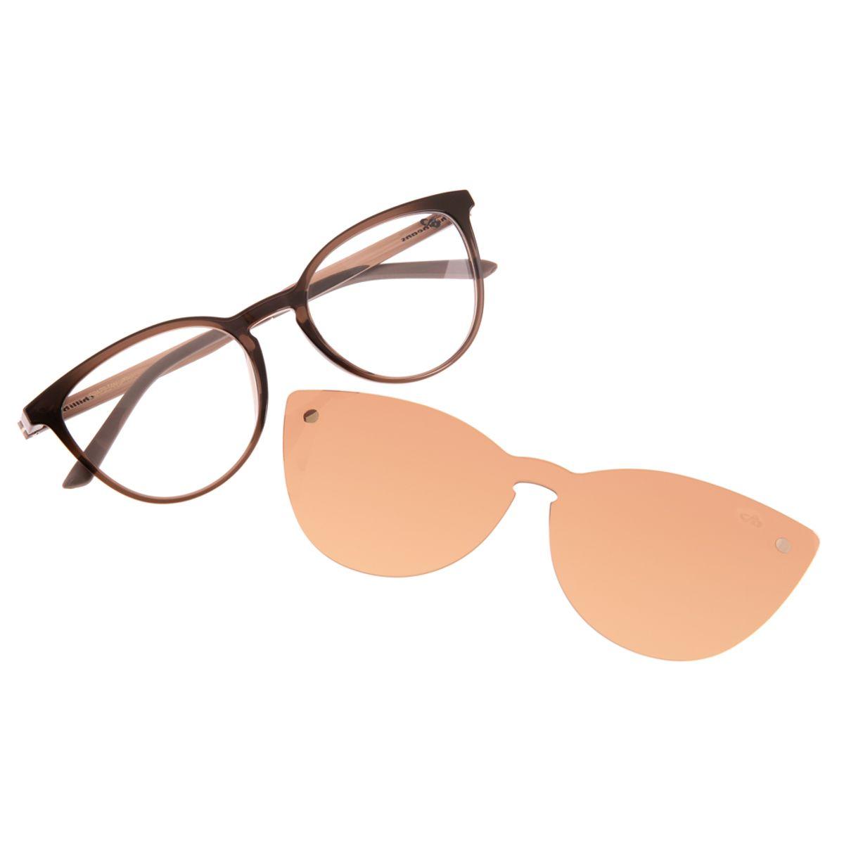 bebf1f18d Armação para Óculos de Grau Gatinho Chilli Beans Feminino Multi Clip ...