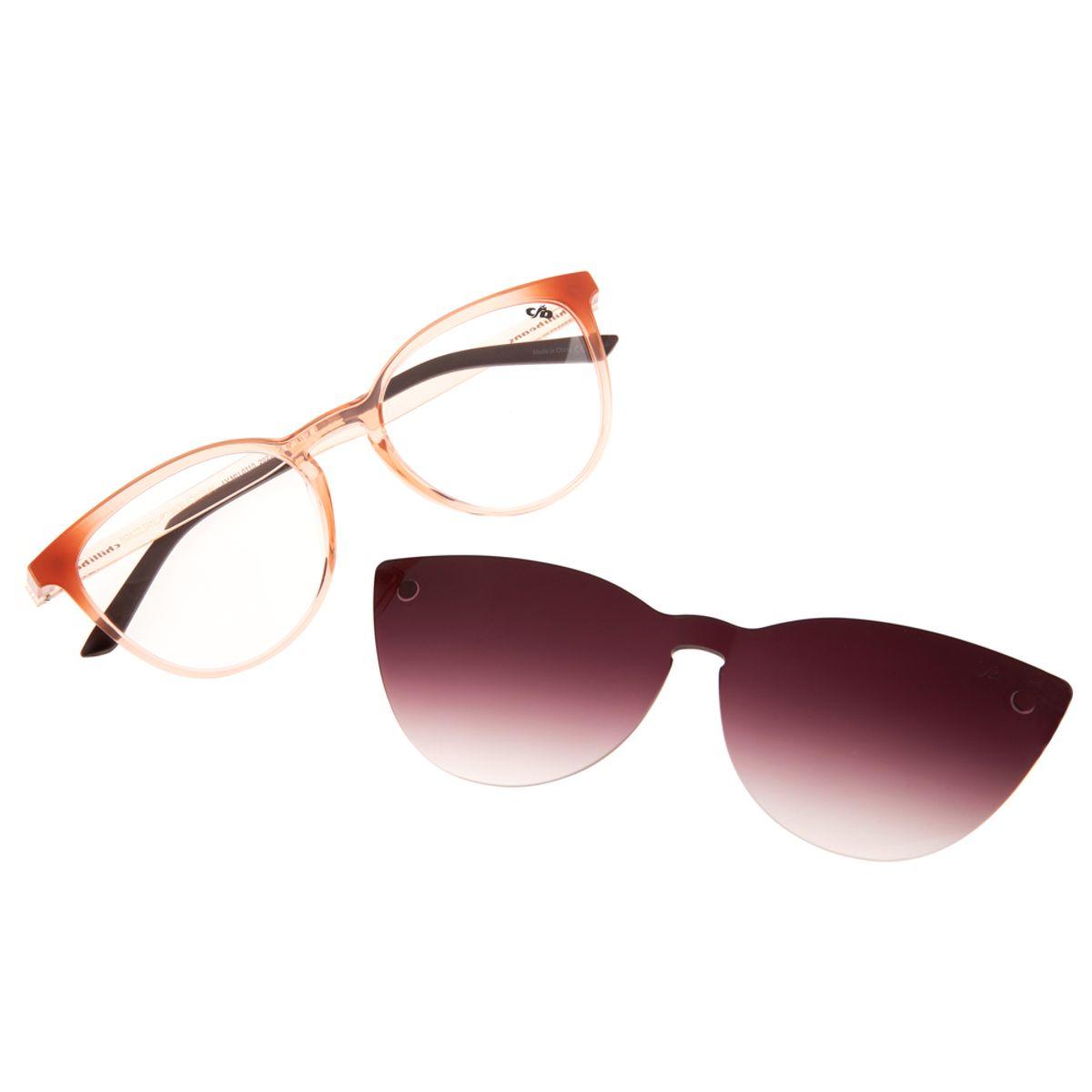 7604a1a52 Armação para Óculos de Grau Gatinho Chilli Beans Feminino Multi Clip ...
