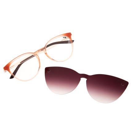80d4c9cd7 Armação para Óculos de Grau Gatinho Chilli Beans Feminino Multi Clip on  Bege 0110 R$ 359,98 ou 4x de R$ 89,99 Ver detalhes
