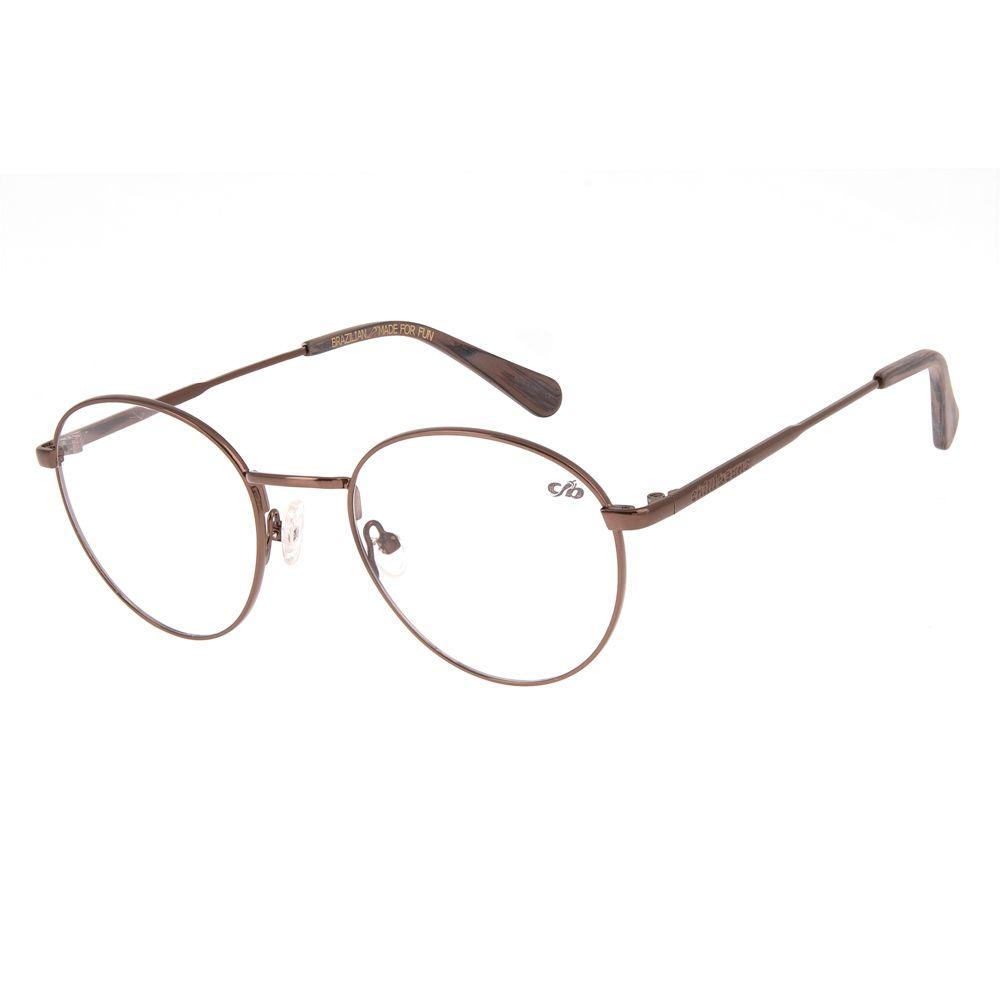 Armação para Óculos de Grau Unissex Chilli Beans Redondo Marrom Escuro LV.MT.0307-4747