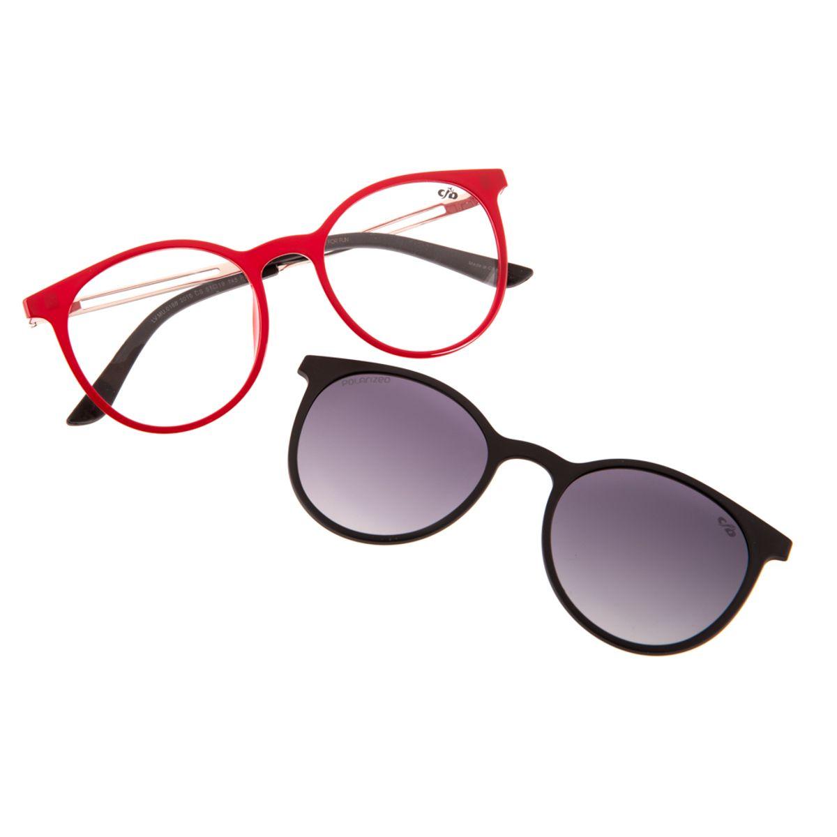 06d3fb754ab12 Armação para Óculos de Grau Feminino Chilli Beans Redondo Polarizado ...