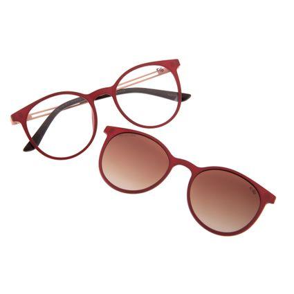 6495ad9bbfd214 Armação para Óculos de Grau Feminino Chilli Beans Redondo Multi Polarizado  Vinho 0188 R$ 379,98 ou 4x de R$ 94,99 Ver detalhes