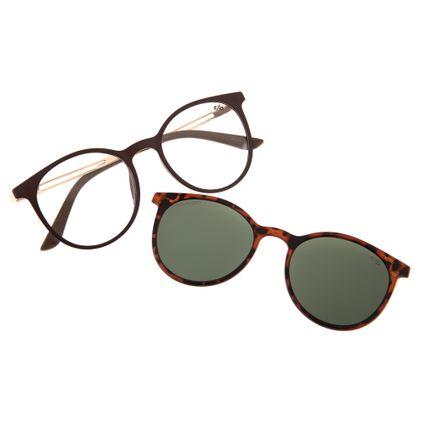 aed8f0c9b39d3 Armação para Óculos de Grau Feminino Chilli Beans Redondo Multi Polarizado  Marrom 0188