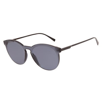 Óculos de Sol Feminino Chilli Beans Summer Block Redondo Cinza Escuro OC.CL.2660-0528