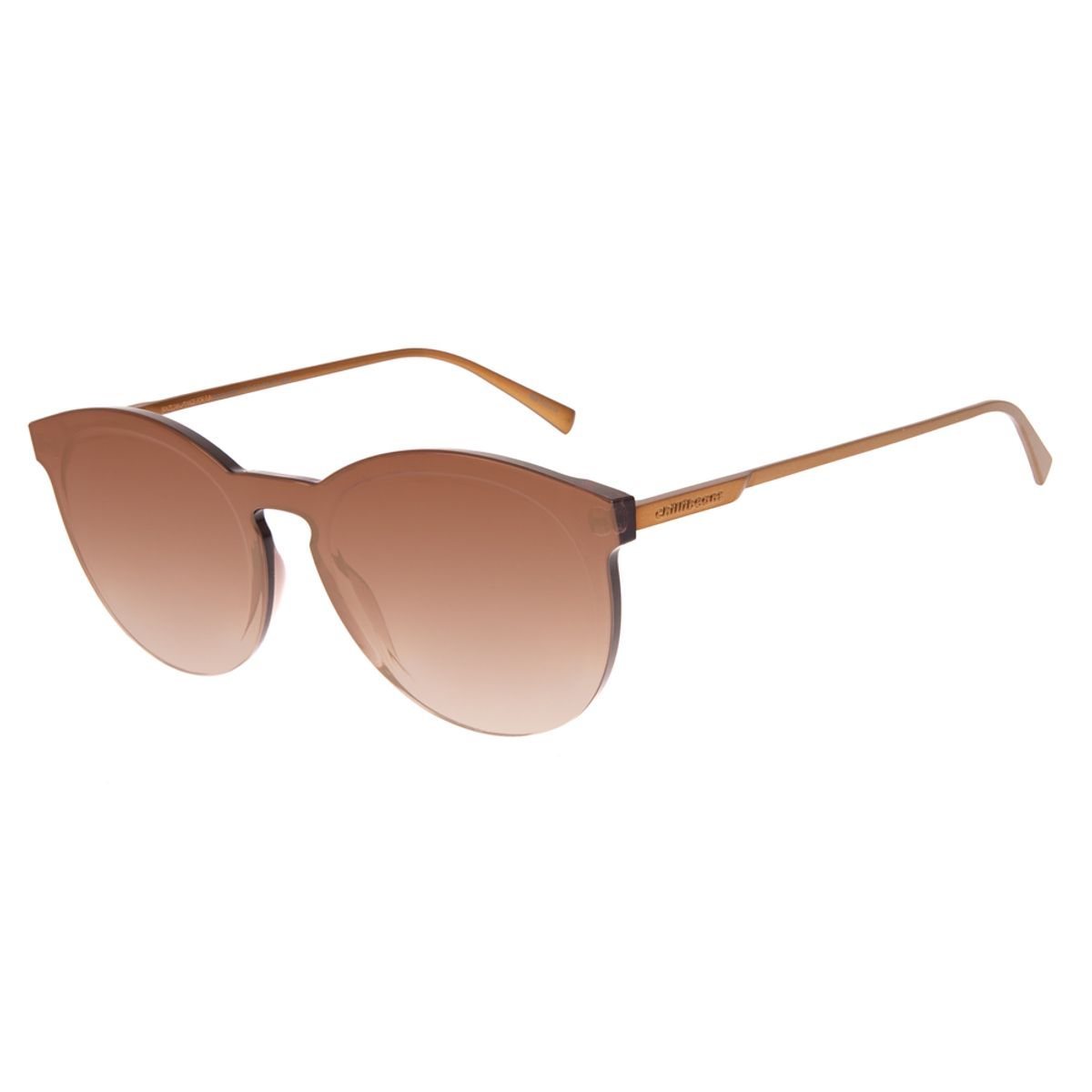 9ec44c40c Óculos De Sol Chilli Beans Feminino Block Redondo Laranja 2660 ...