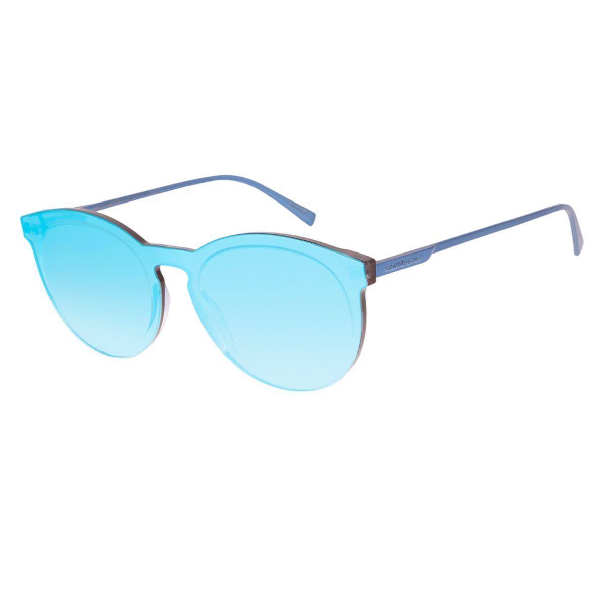 57e4e0ec7 Óculos De Sol Chilli Beans Feminino Block Redondo Azul Espelhado ...