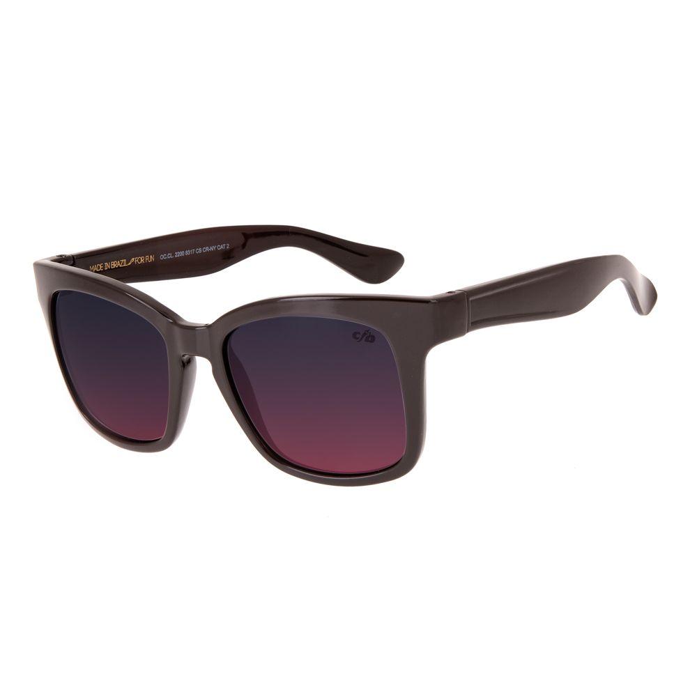 oculos de sol chilli beans feminino quadrado vinho 2200 8317