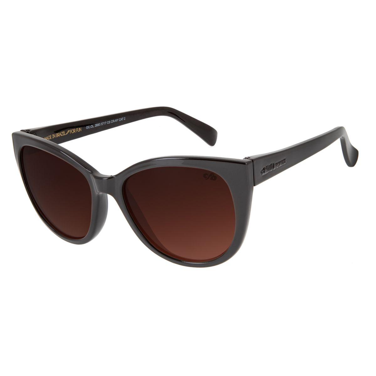 cd3122dae21e4 Óculos De Sol Chilli Beans Redondo Clássico Feminino Vinho 2683 ...