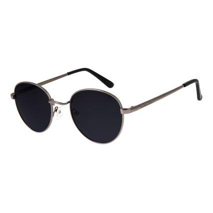 dd7c85d27dbc6 Óculos De Sol Chilli Beans Unissex Metal Redondo Ônix 2517