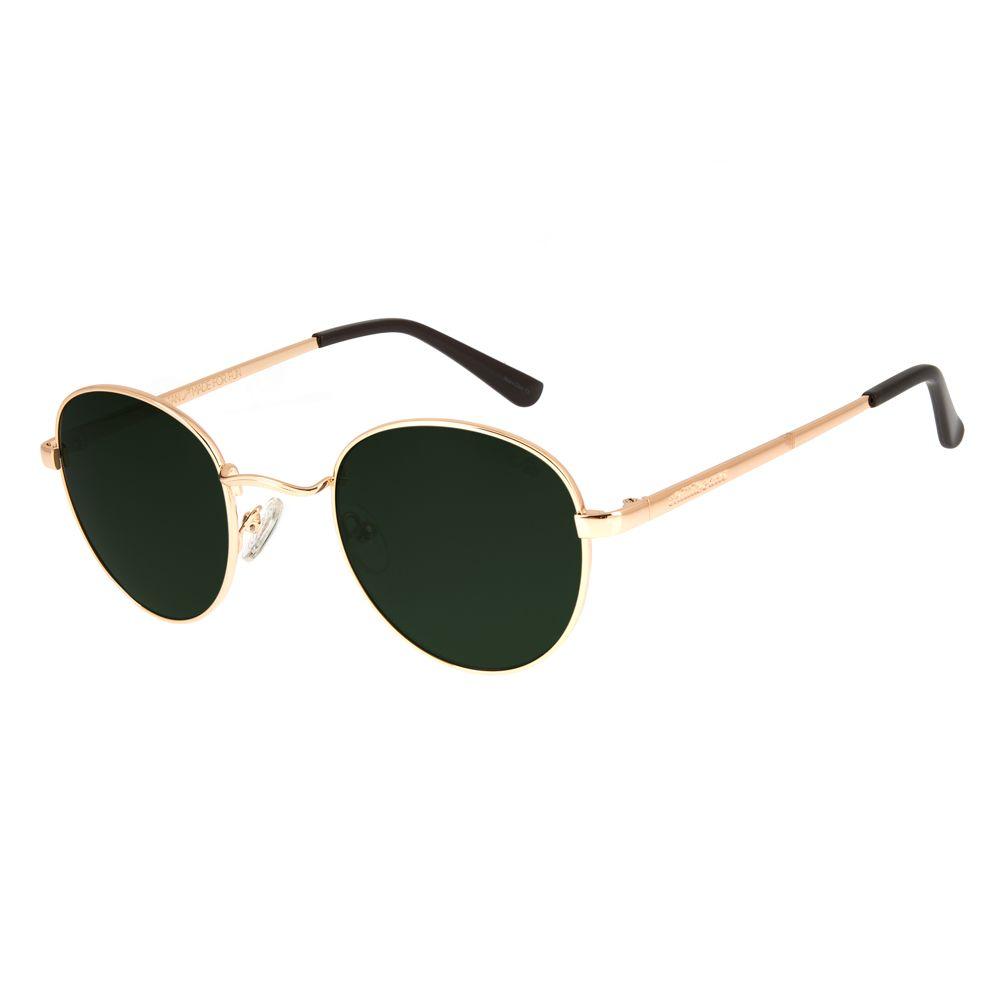 Óculos De Sol Chilli Beans Unissex Redondo Dourado OC.MT.2517-1521